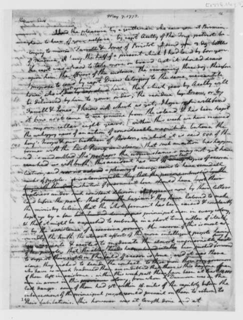 Thomas Jefferson to William Small, May 7, 1775, Boston Massacre