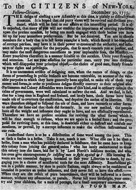 To the citizens of New York, December 30, 1775 ...