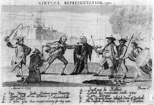 Virtual representation, 1775