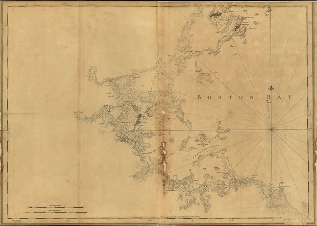 [A chart of Boston Bay and vicinity.
