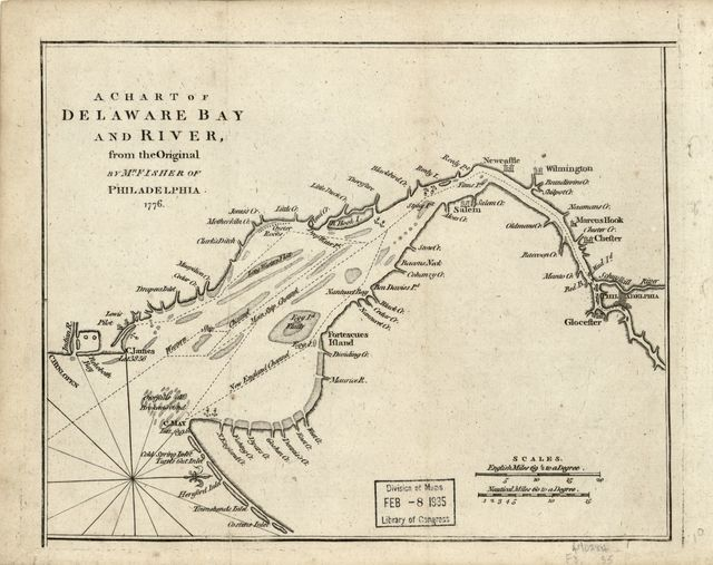 A chart of Delaware Bay and River : from the original /