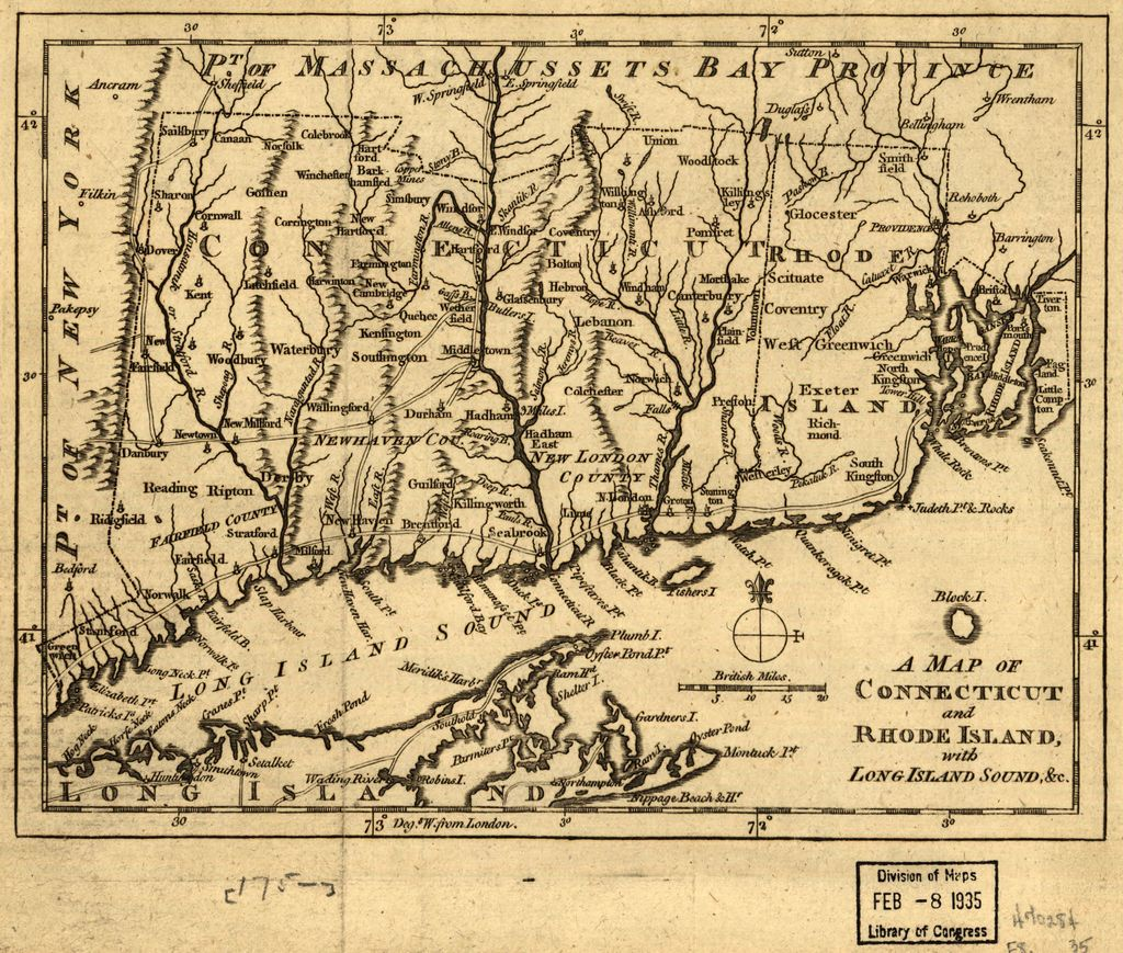 A map of Connecticut and Rhode Island with Long Island Sound, &c.