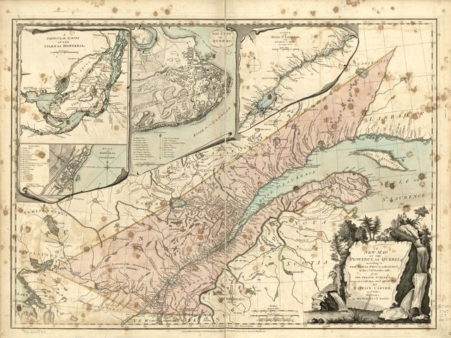 A new map of the Province of Quebec, according to the Royal Proclamation, of the 7th of October 1763.