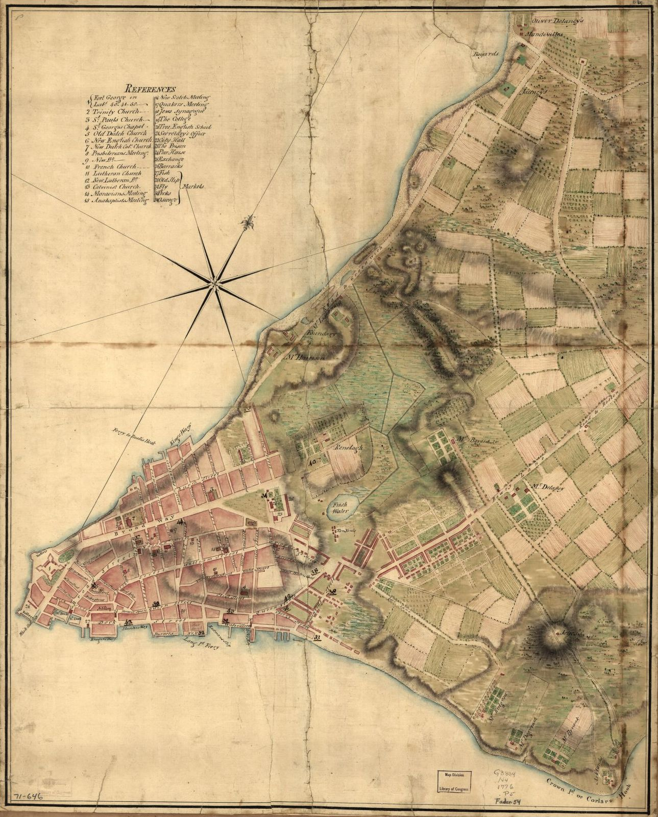 [A Plan of the city of New York.