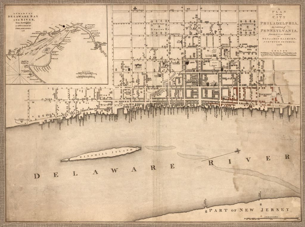 A plan of the city of Philadelphia, the capital of Pennsylvania, from an actual survey.