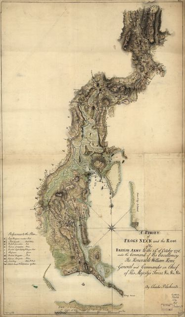 A survey of Frog's Neck and the rout[e] of the British Army to the 24th of October 1776, under the command of His Excellency the Honorable William Howe, General and Commander in Chief of His Majesty's forces, &ca, &ca, &ca.