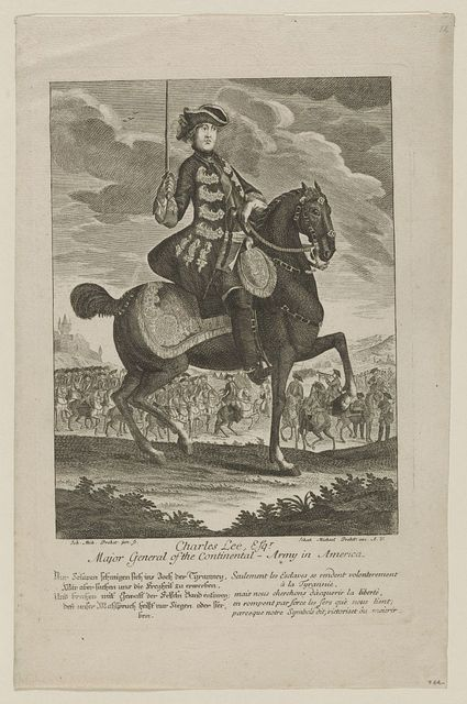 Charles Lee Esq'r. - major general of the Continental-Army in America / Ioh. Mich. Probst, jun. sc. ; Iohan Michael Probst exc. A.V.