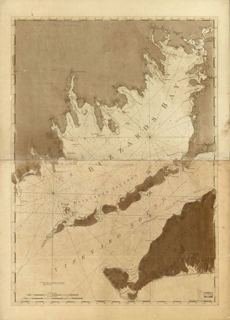 [Chart of Buzzards Bay and Vineyard Sound.