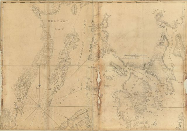 [Coast of Maine showing Blue Hill Bay, Penobscot Bay, Belfast Bay, Islesboro Island, Deer Island, and other islands.