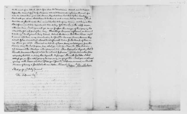 Edmund Pendleton to Thomas Jefferson, August 26, 1776, Allodial System of Land Distribution; Continental Army; Indian Affairs