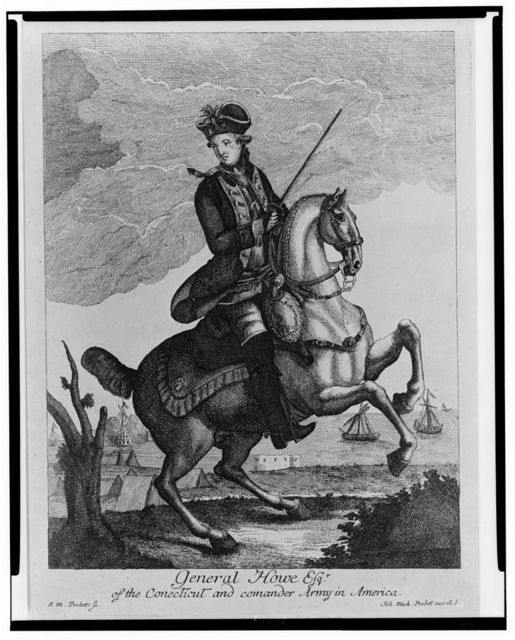 General Howe, Esqr. of the Conecticut [i.e., Connecticut] and comander [sic] Army in America / I.M. Probst sc ; Ioh. Mich: Probst exc: AV.