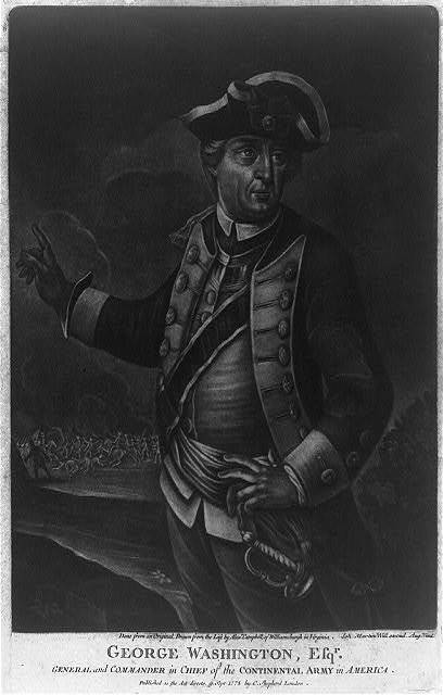 George Washington, Esq'r. - general and commander in chief of the Continental Army in America / done from an original, drawn from the life by Alex'r. Campbell, of Williamsburgh in Virginia ; Ioh. Martin Will excud. Aug. Vind.