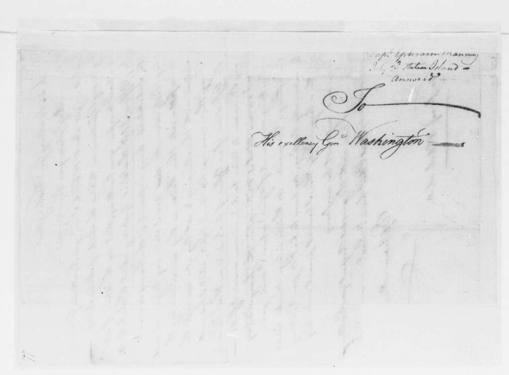 George Washington Papers, Series 4, General Correspondence: Ephraim Manning to George Washington, July 3, 1776