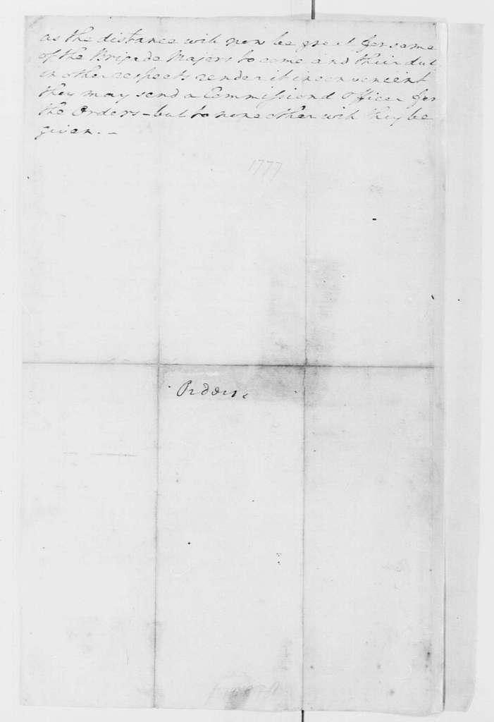 George Washington Papers, Series 4, General Correspondence: George Washington, December 10, 1776, General Orders