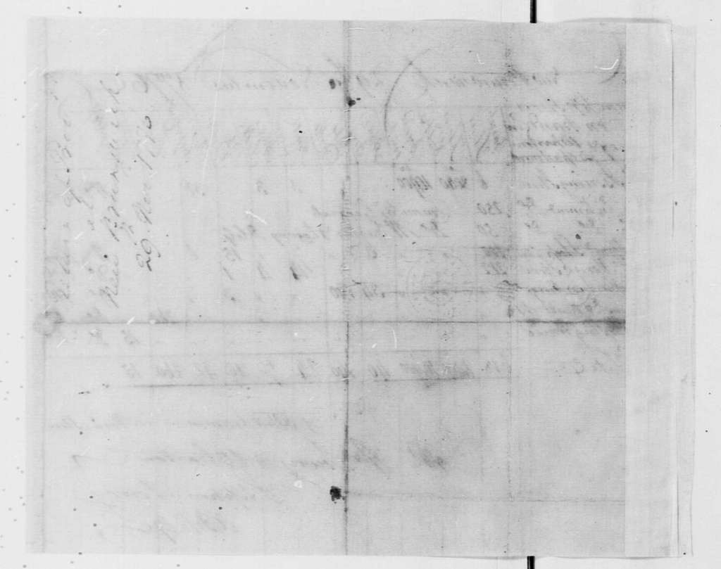 George Washington Papers, Series 4, General Correspondence: Stephen Lowry, November 29, 1776, Report on Stores