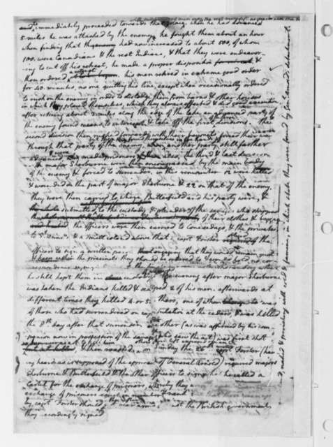 Henry Sherburne, June 17, 1776, Testimony to Continental Congress on Affair at the Cedars, Canada