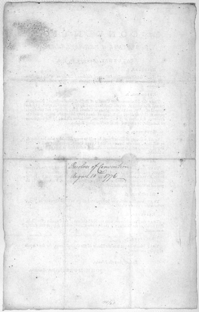 In Convention for the State of Pennsylvania Saturday, August 10, 1776. [7 resolutions: ordering march of the entire State militia; excepting several western counties: and others relating to the flying camp.] [Philadelphia: Printed by Henry Mille