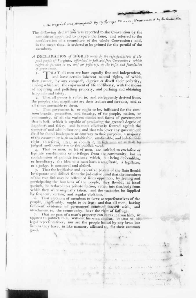 """James Madison, June 8, 1776. """"A Plan of Government"""""""