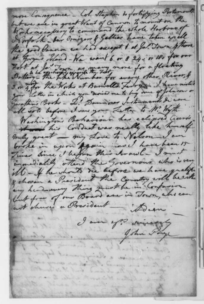 John Page to Thomas Jefferson, July 6, 1776, News of Virginia Convention; Defense of Virginia