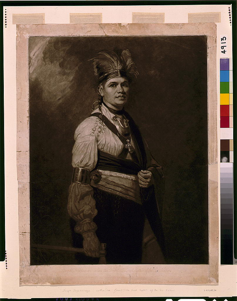 Joseph Fayadaneega, called the Brant, the Great Captain of the Six Nations / J.R. Smith.