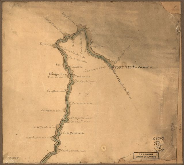 [Map of the Ohio River from Fort Pitt.