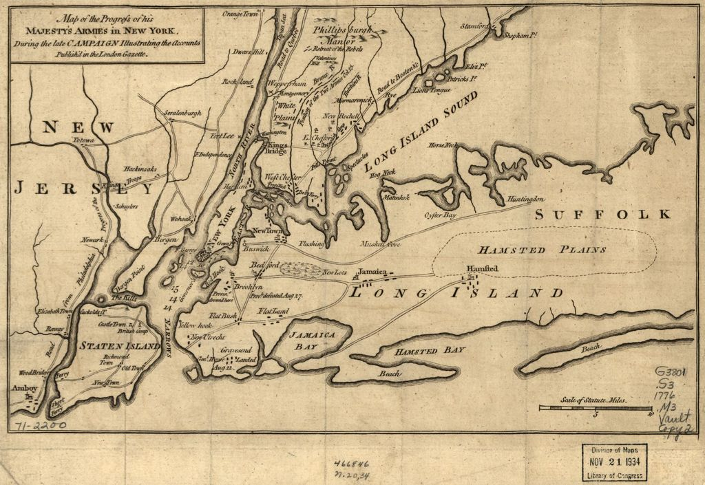Map of the progress of His Majesty's armies in New York, during the late campaign, illustrating the accounts.