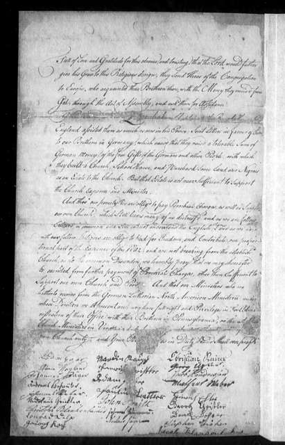 October 22, 1776, Culpeper, German Lutheran Congregation, for exemption from parochial charges, and permission to use own ministers.