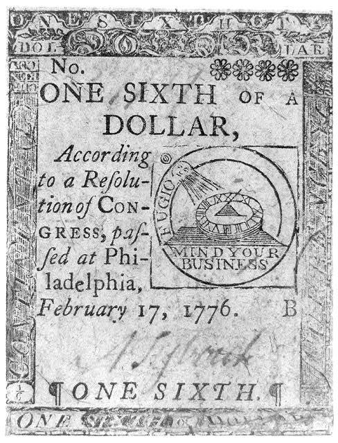 One sixth of a dollar according to a resolution of Congress passed at Philadelphia, February 17, 1776