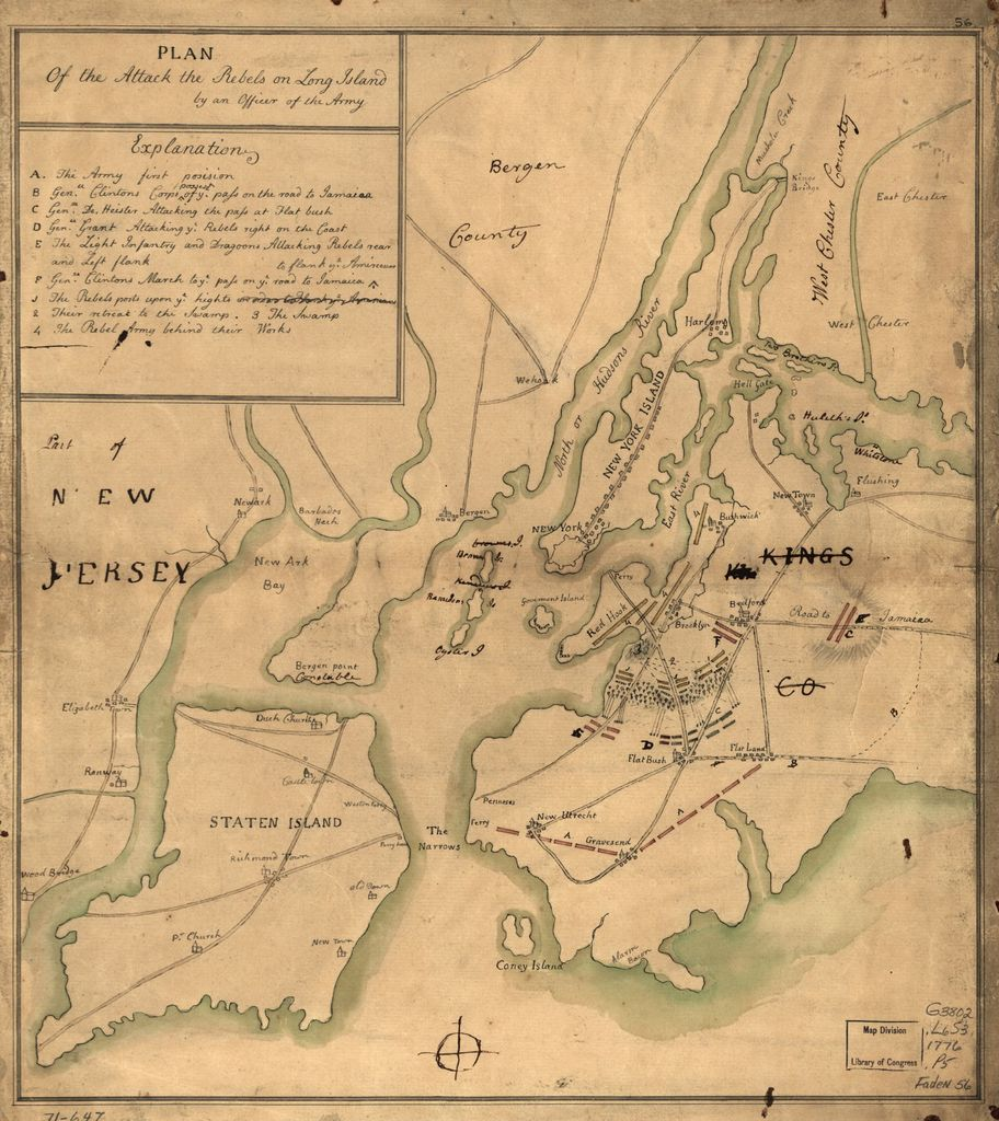 Plan of the attack the rebels on Long Island, by an officer of the Army.