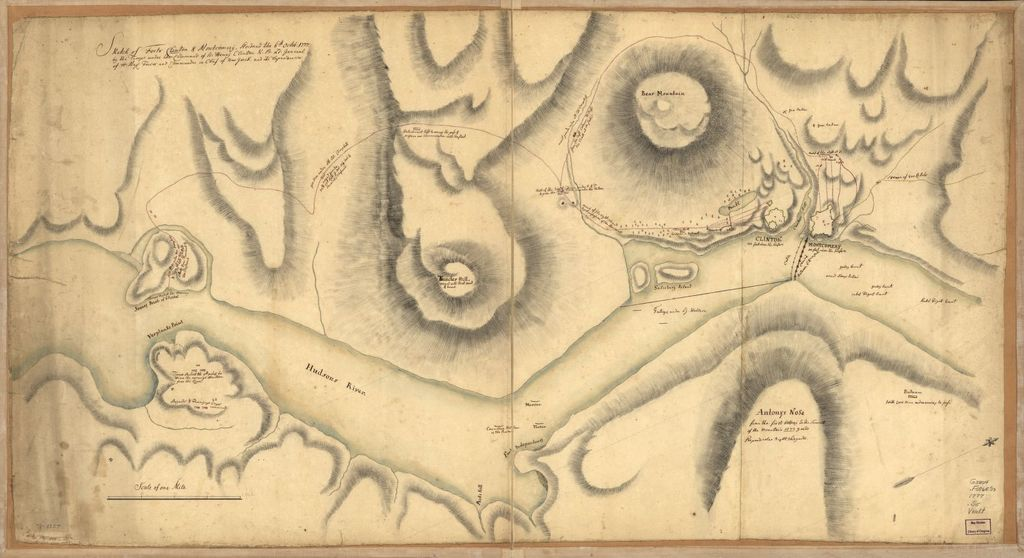 Sketch of Forts Clinton & Montgomery, stormed the 6th Octob. 1777 by the troops under the command of Sir Henry Clinton, K.B., Lt. General of H. Maj. forces and commander in chief of New Yorck and its dependencies.