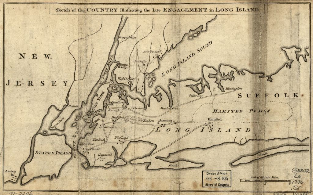 Sketch of the country illustrating the late engagement in Long Island.
