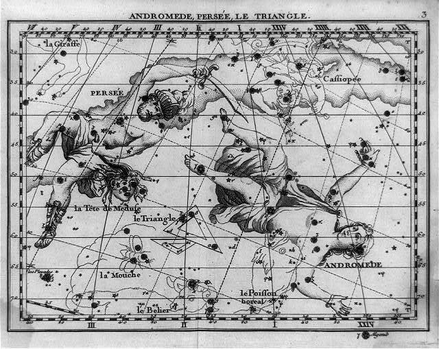 [Star map with constellations of Andromeda, Perseus, and Triangulum]