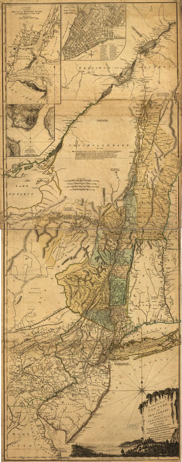 The provinces of New York and New Jersey; with part of Pensilvania, and the province of Quebec.