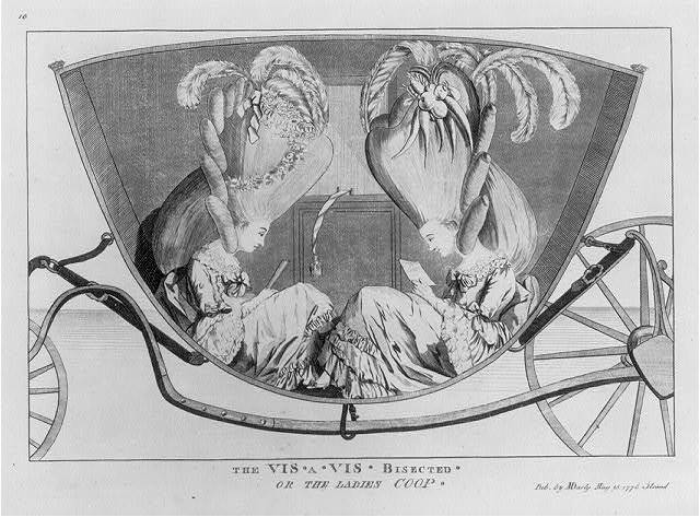 The vis a vis bisected or The ladies coop / [M. Darly?].