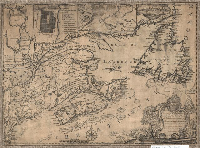 This map of the province of Nova-Scotia and parts adjacent.