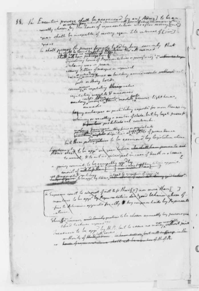 Thomas Jefferson, June 1776, Notes on the Virginia Constitution
