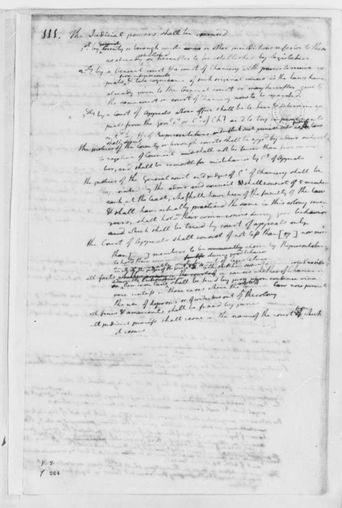 Thomas Jefferson, June 1776, Notes on the Virginia Constitution