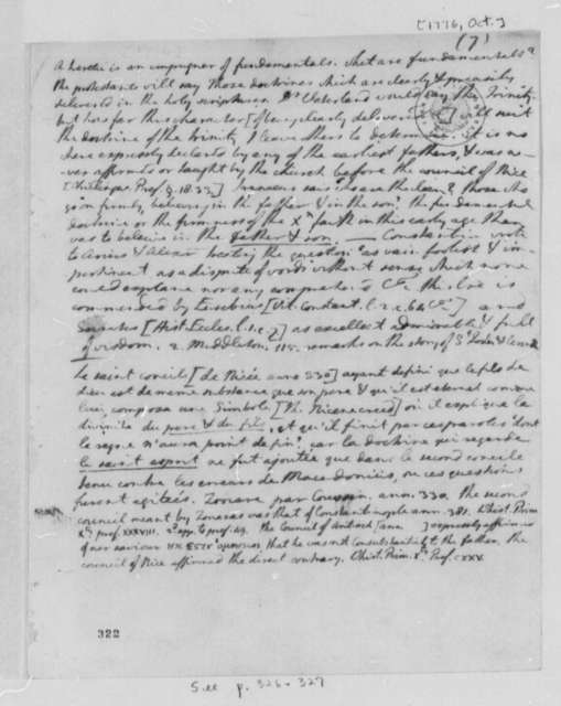 Thomas Jefferson, October 1776, Notes on Heresy, Part 1; Virginia Laws and Statutes Covering the Church of England