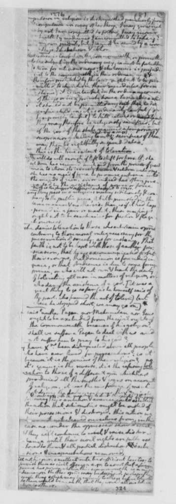 Thomas Jefferson, October 1776, Notes on Locke, Part 1; Virginia Laws and Statutes Covering the Church of England