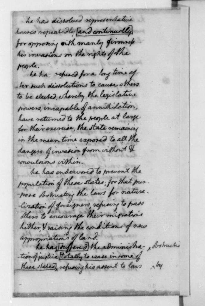 Thomas Jefferson to James Madison, June 7, 1776. Jefferson's Notes Debates in the Continental Congress.
