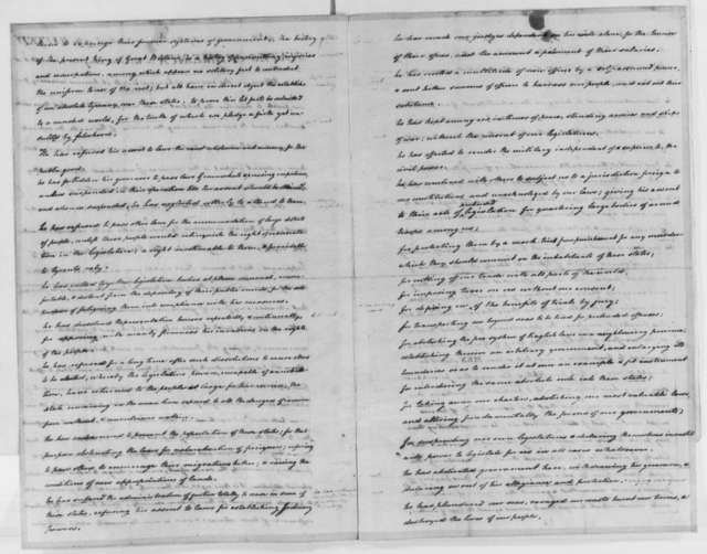 Thomas Jefferson to Richard Henry Lee, July 8, 1776, with Declaration of Independence