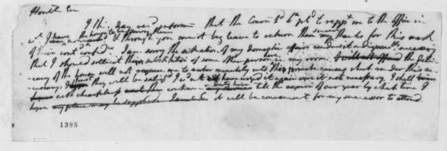 Thomas Jefferson to Virginia Convention of Delegates, July 1776, Declines Reappointment