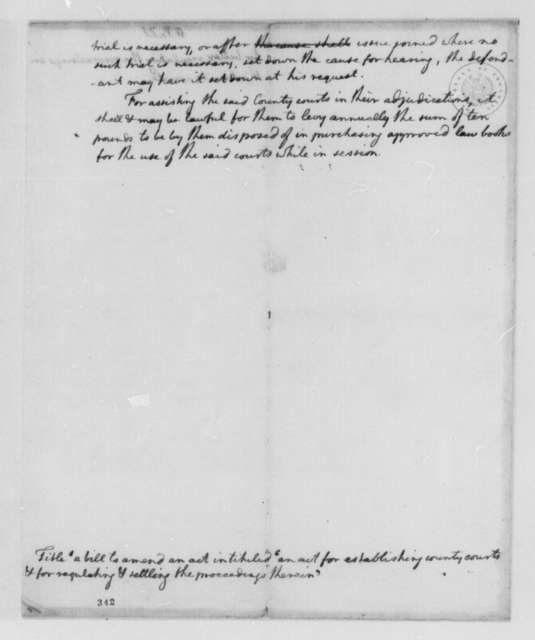 Virginia Colonial Courts, October 25, 1776, Amendment to 1748 Act for Establishing County Courts
