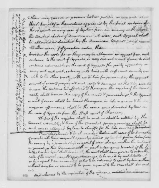 Virginia Laws and Statues, 1776, Draft of Bill Establishing Admiralty Court, Part 2