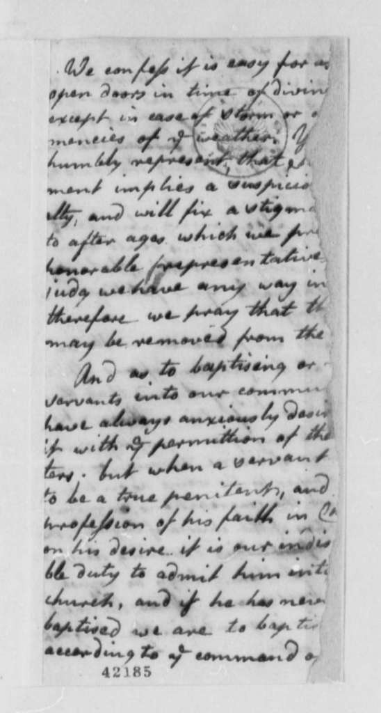 Virginia Presbyterians to Virginia Legislature, 1776, Petition for Freedom of Religious Practice