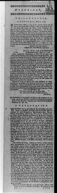 Wednesday - Philadelphia, in Congress, July 19, 1776. Resolved...