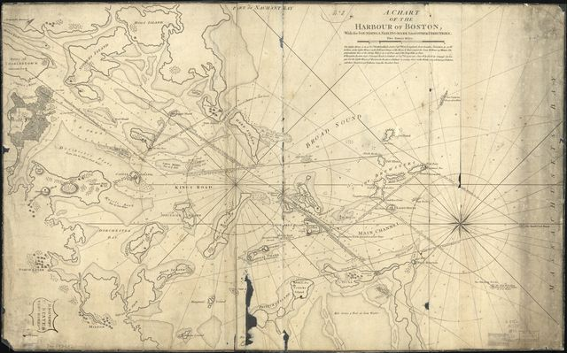 A Chart of the harbour of Boston, with the soundings, sailing-marks, and other directions.