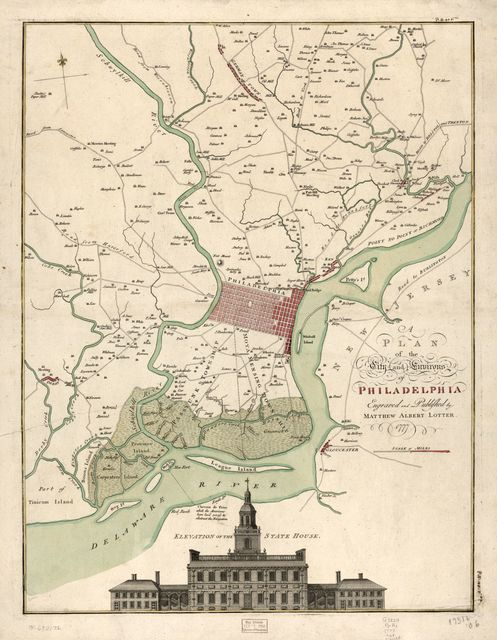 A plan of the city and environs of Philadelphia.