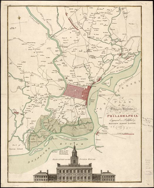 A plan of the city and environs of Philadelphia /