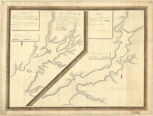 A sketch of the navigation from Swan Pt. to the River Elk at the head of Chesapeak Bay. Sketch of the River Elk, at the head of Chesapeak Bay.